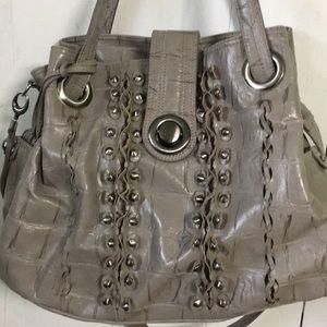 Gray Alligator print Gretta Shoulder bag